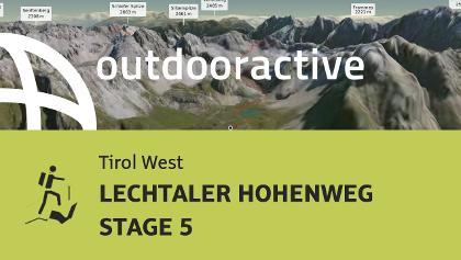 alpine tour in Tirol West: LECHTALER HOHENWEG STAGE 5