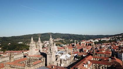 Blick auf die Altstadt von Santiago de Compostela