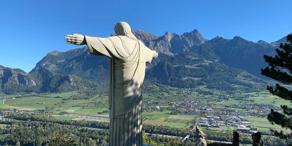 Cristo Statue im Schloss Wartenstein