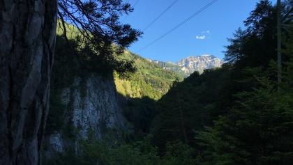 Calandaschau über der Taminaschlucht