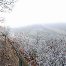 Oben am Aussichtspunkt Kumer Knüppchen
