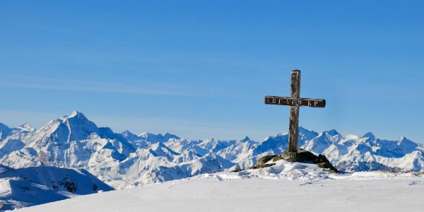 Kleines Gipfelkreuz des Skispitzl 2.450m