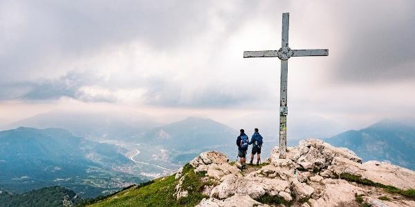 Sulla cima del monte Stivo