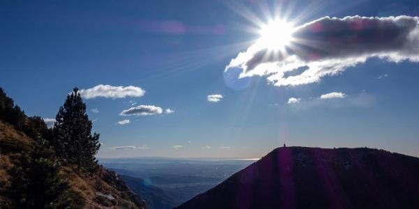 Ausblick auf den Monte Cuarnan