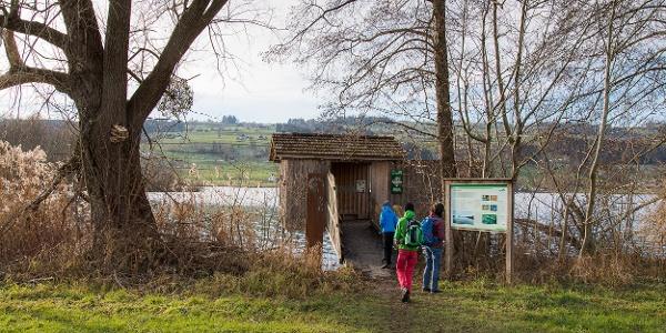 Der Hide von Pro Natura am Baldeggersee