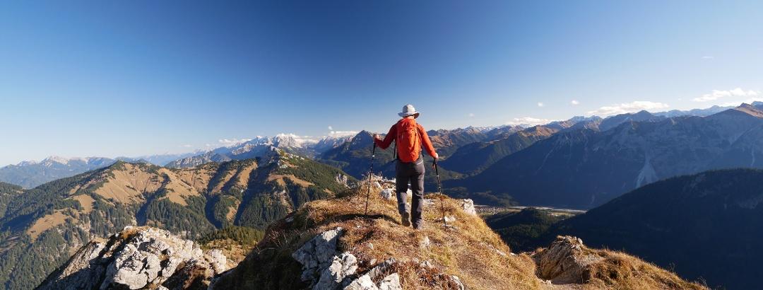 Wanderer im Tannheimer Tal