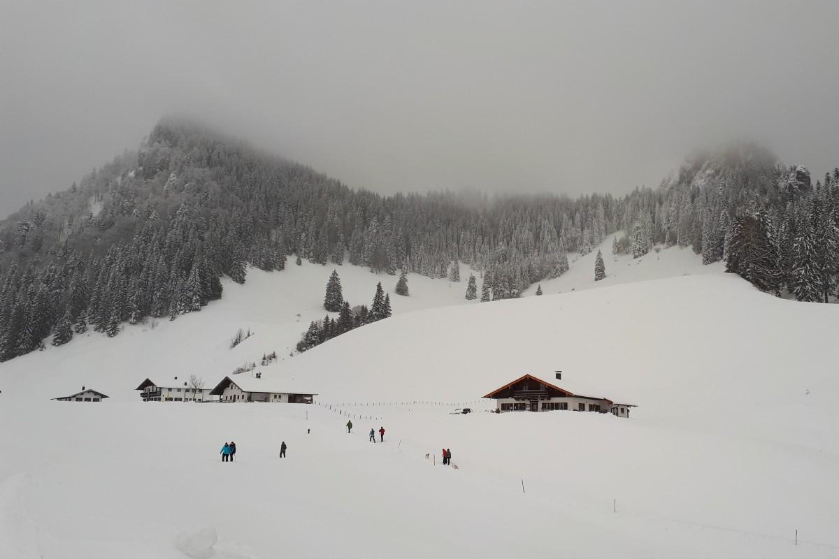 Heuberg Almen - auch genannt Daffnerwald Almen im Winter