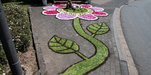 Laufeld: Blumenteppich für Fronleichnam