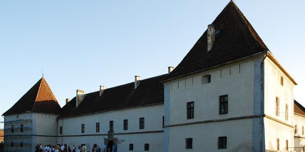 The fortified Mikó castle in Miercurea Ciuc, Harghita, Romania