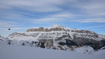 Ausblick im Skigebiet Arabba/Porta Vescovo