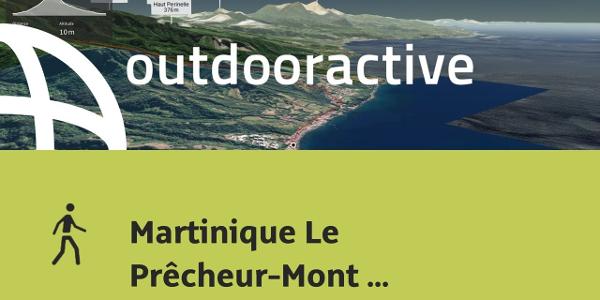 hiking trail in Martinique: Martinique Le Prêcheur-Mont Pelée-Grand'Rivière