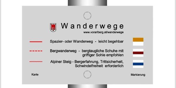 Wanderwegenetz Vorarlberg