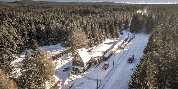 Bahnhof Rennsteig am Skiwanderweg