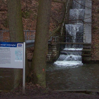 Kaskaden am Wasserkraftwerk Rabenauer Grund