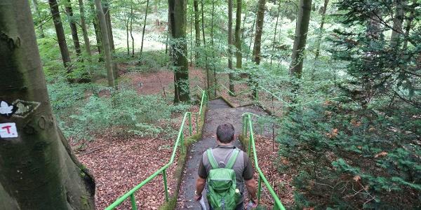 Treppen erleichtern den Auf – bzw. Abstieg.