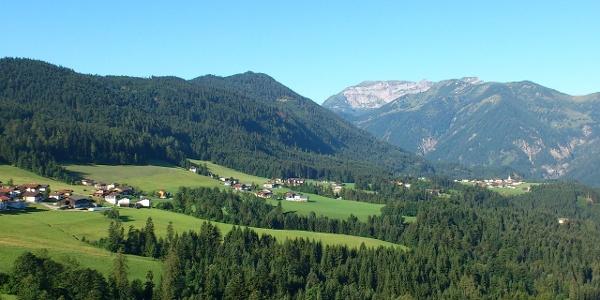 Brandenberg Blick Tal auswärts