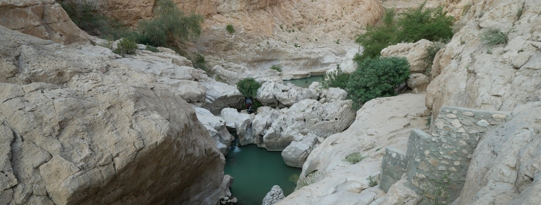 Beautiful view to the Wadi Bani Khalid