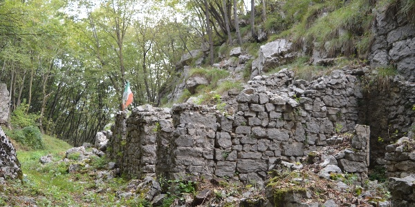 Ruins of buildings dating back to WW1