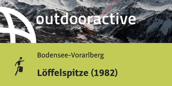 Skitour in der Region Bodensee-Rheintal: Löffelspitze (1982)