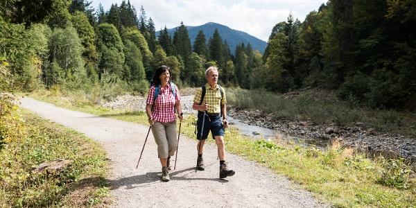 Wanderer auf dem Bolgenachweg