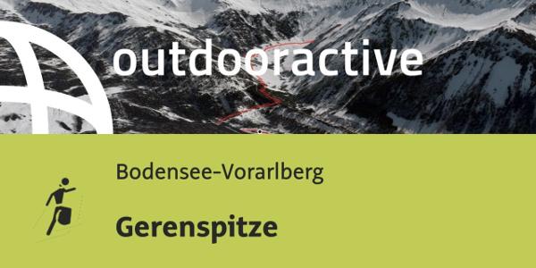 Skitour in der Region Bodensee-Rheintal: Gerenspitze