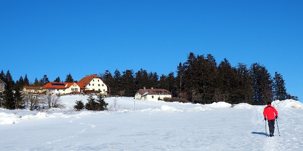 Giselahaus 885m in Sicht