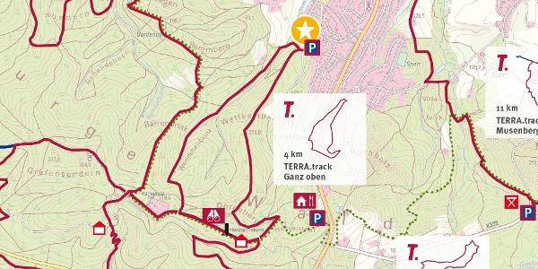 TERRA.track Ganz oben - Auszug Schautafel am Naturpark- Wanderparkplatz Zum Brunnen