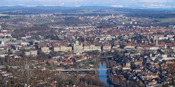 Blick vom Gurten nach Bern.