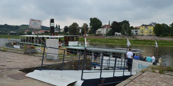 Anleger de Sächsischen Dampfschiffahrt in Meißen