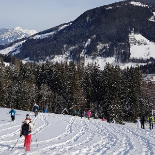Eine einfache Schneeschuhwanderung - die Rohrmooser Schneeschuhtour
