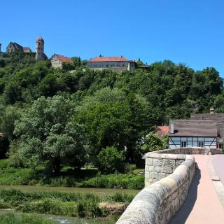 Schloss Harburg mit Steinerne Brücke