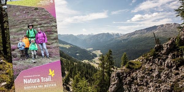 Erleben sie einen Teil des Senda Val Müstairs mit dem Natura Trail Führer