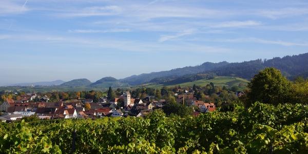 Blick auf Britzingen