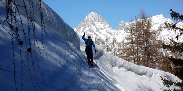 Ausstieg aufs Plateau ~1430m vom Bärenkopf