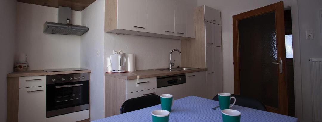 Küche mit Essecke im 1. Stock