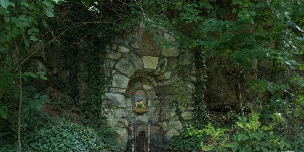 Az árnyas Mária-forrás Péliföldszentkereszt mellett