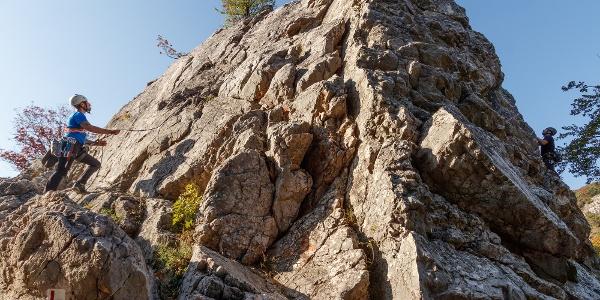 A csókakői vár melletti sziklamászóhely