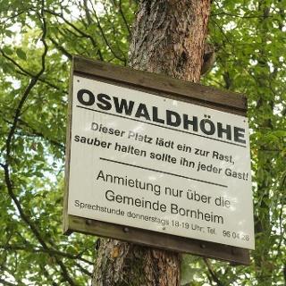 "Schild ""Oswaldhöhe"""