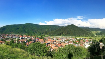Panoramablick vom Kreuzbühl