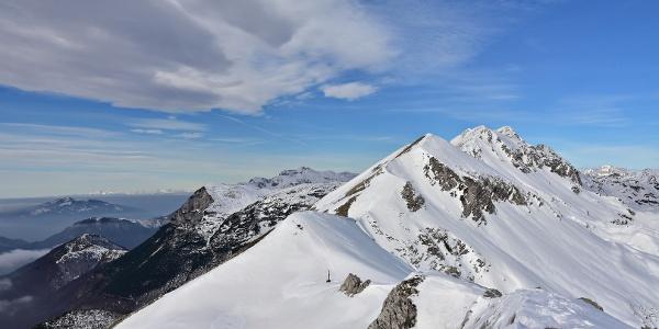 View of Mt. Rušnati vrh and Mt. Krn