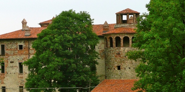 Die Festung (Castello) Reynaudi in Costigliole Saluzzo.