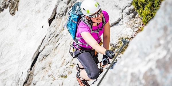 im Klettersteig auf den Untersberg