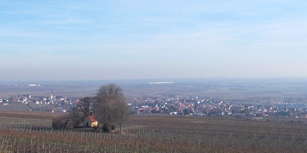 Blick auf Bockenheim a.d.W. und Heiligenkirche