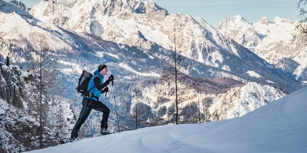 Skitouren Aufstieg zum Hohen Göll