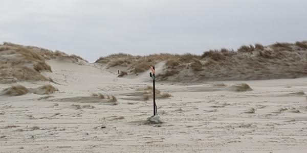 Markierung Strandabgang