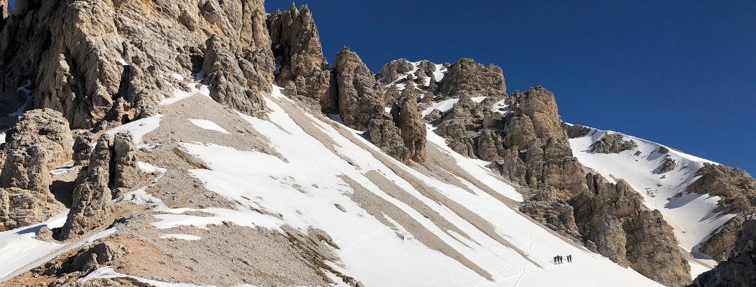Croda Ciamin mit weiterem Aufstiegsweg