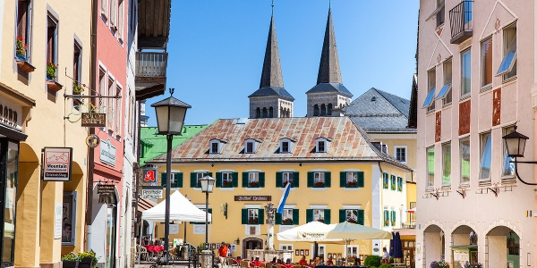 Die Fußgängerzone in Berchtesgaden