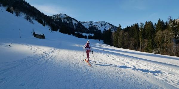 Auf Skiern hinauf zum Seelekopf