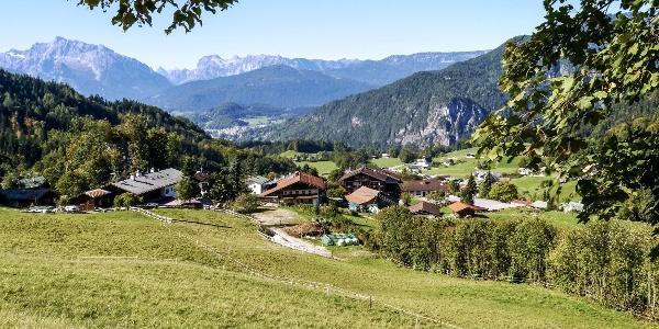 Blick über Oberau