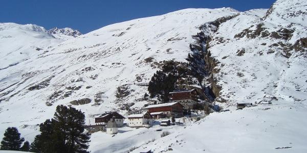 Die bekannten Rofenhöfe auf 2.044 m